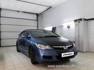 Установка противоугонных систем Pandora/Pandect на автомобиль Honda Civic