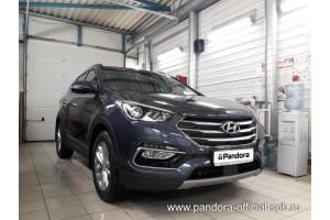 Установка Pandora/Pansect на Hyundai Santa Fe