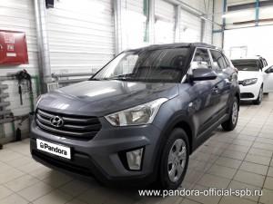 Установка противоугонных систем Pandora/Pandect на автомобиль Hyundai Creta