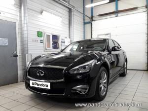 Установка противоугонных систем Pandora/Pandect на автомобиль Infiniti Q70