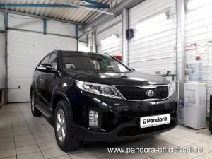 Установка противоугонных систем Pandora/Pandect на автомобиль Kia Sorento