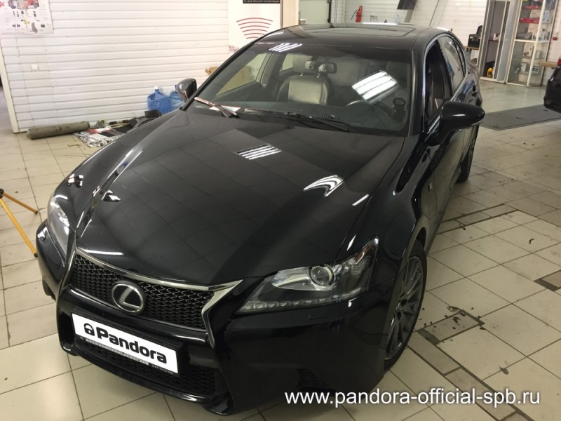 Установка противоугонных систем Pandora/Pandect на автомобиль Lexus GS 250