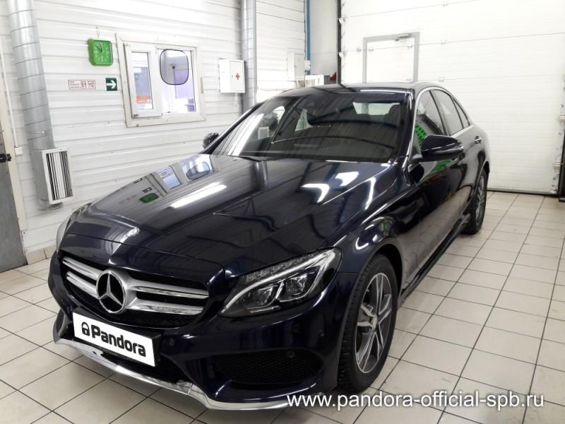Установка противоугонных систем Pandora/Pandect на автомобиль Mercedes-Benz C