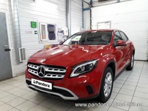 Установка противоугонных систем Pandora/Pandect на автомобиль Mercedes-Benz GLA
