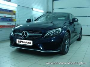 Установка противоугонных систем Pandora/Pandect на автомобиль Mercedes-Benz C Coupe