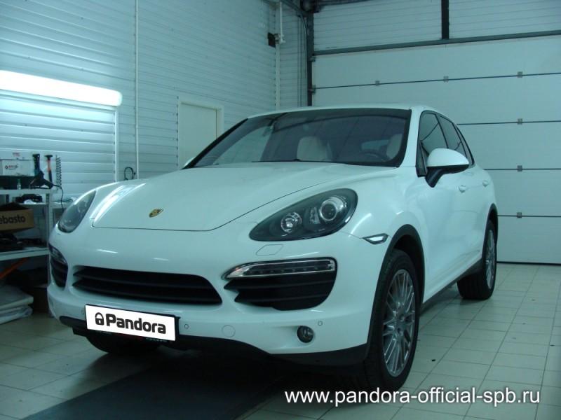 Установка противоугонных систем Pandora/Pandect на автомобиль Porsche Cayenne 1
