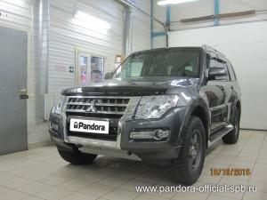 Установка противоугонных систем Pandora/Pandect на автомобиль Mitsubishi Pajero