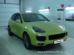 Установка противоугонных систем Pandora/Pandect на автомобиль Porsche Cayenne