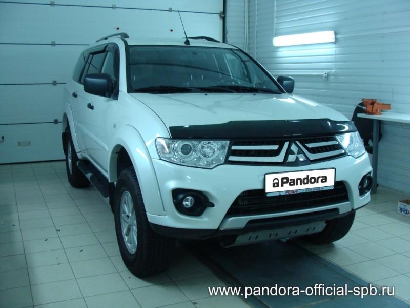 Установка противоугонных систем Pandora/Pandect на автомобиль Mitsubishi Pajero Sport
