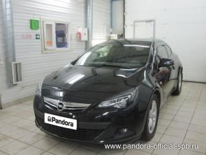 Установка противоугонных систем Pandora/Pandect на автомобиль Opel Astra GTC