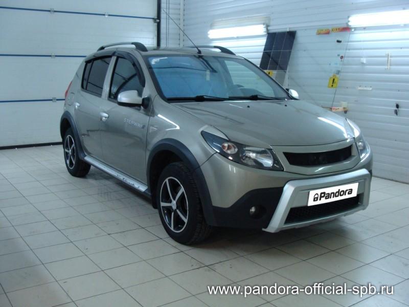 Установка противоугонных систем Pandora/Pandect на автомобиль Renault Sandero