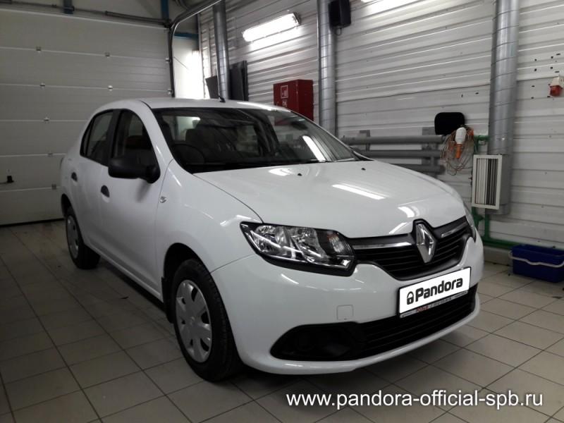 Установка противоугонных систем Pandora/Pandect на автомобиль Renault Logan