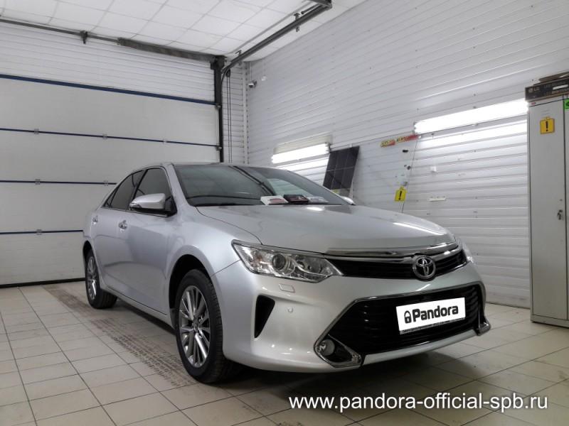 Установка противоугонных систем Pandora/Pandect на автомобиль Toyota Camry