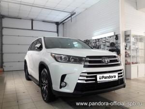 Установка противоугонных систем Pandora/Pandect на автомобиль Toyota Highlander