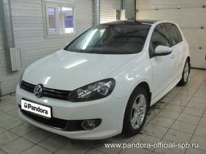 Установка противоугонных систем Pandora/Pandect на автомобиль Volkswagen Golf
