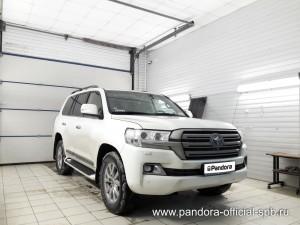 Установка противоугонных систем Pandora/Pandect на автомобиль Toyota Land Cruiser 200