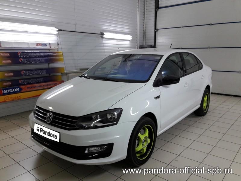 Установка противоугонных систем Pandora/Pandect на автомобиль Volkswagen Polo