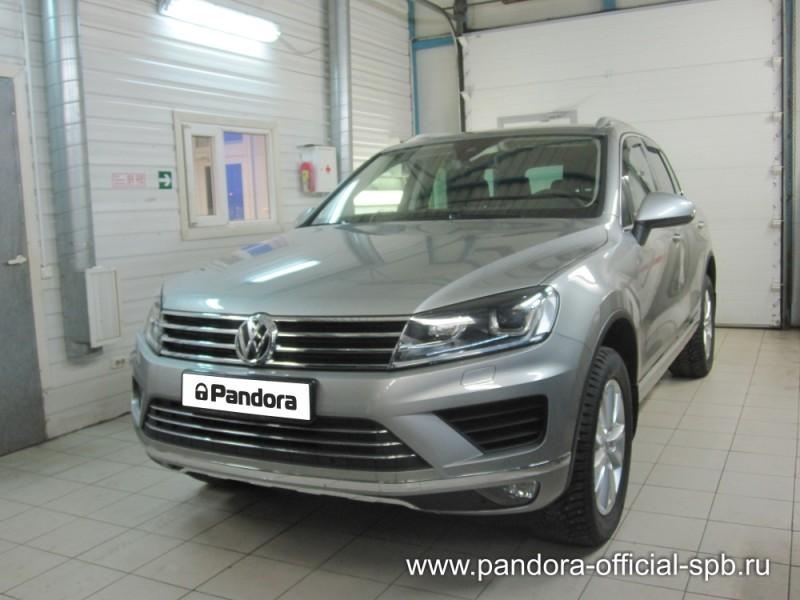 Установка противоугонных систем Pandora/Pandect на автомобиль Volkswagen Touareg