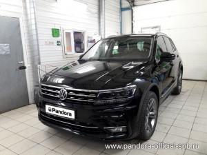 Установка противоугонных систем Pandora/Pandect на автомобиль Volkswagen Tiguan